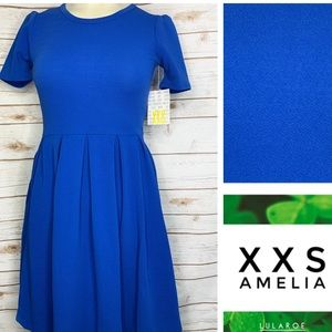 XXS Amelia Royal blue solid w/pockets